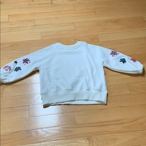 NWOT Zara Girls Star Detail Sweatshirt, Sz 10
